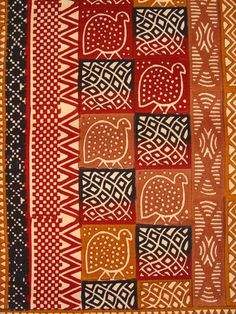 The traditional guinea fowl pattern in warm earth tones makes the wall hanging a perfect fit for your home and workplace. Grab new colors and designs today! Ethnic Patterns, Japanese Patterns, Graphic Patterns, Textile Patterns, Textile Design, Print Patterns, Floral Patterns, African Patterns, African Theme