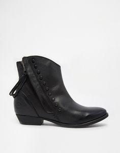 Enlarge Bronx Leather Cuban Heeled Boots