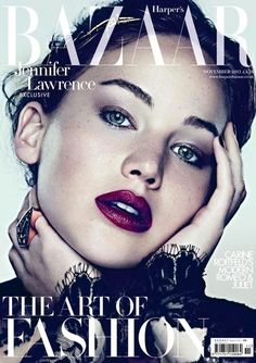 Jennifer Lawrence, Harper's Bazaar Magazine [United Kingdom] (November 2013)