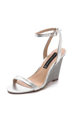 Steven Carolee Wedge Sandals  Something like this in bronze color for heathers wedding