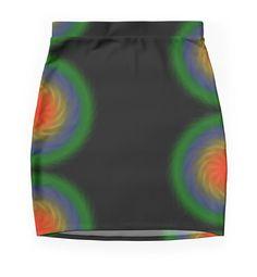 Funky printed pencil skirt