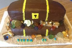 Treasure Chest cake for Pirate themed party