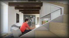 Ricardo Loft Interior, Living room a+e visualisations