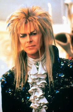 1986 - David Bowie as Jareth, The Goblin King in Labyrinth. What are we going to do w/out Bowie?