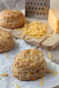 Whole Wheat Cheddar Biscuits by Completely Delicious