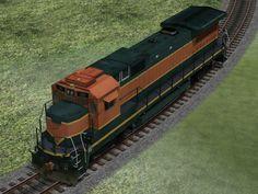 Vierachsige dieselelektrische Lokomotiven GE Dash 8-40B