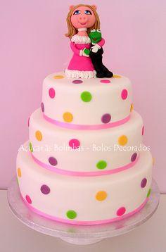 Miss Piggy & Kermy Cake