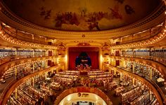 It's a bookstore inside of a theatre! I REPEAT: A BOOKSTORE. INSIDE. OF A THEATRE!! <3  El Ateneo Grand Splendid in Buenos Aires.