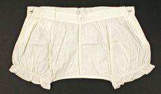 Cotton underwear, From the Metropolitan Museum of Art. Vintage Underwear, Cotton Underwear, Vintage Lingerie, Women Lingerie, Drag Clothing, Vintage Outfits, Vintage Fashion, Vintage Clothing, Costume Institute