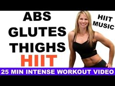 HIIT Workout, HIIT Abs Butt Thighs Workout Video, HIIT Training Workout Video - YouTube