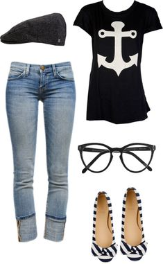 """cute & casual"" by brittneyjeffcoat on Polyvore"