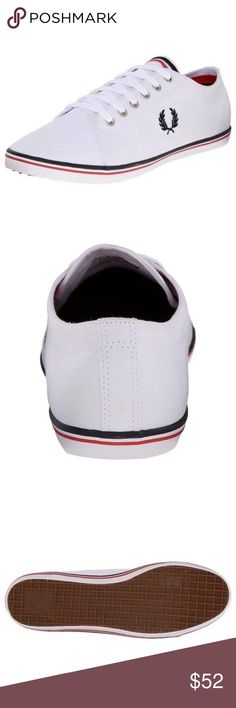 Fred Perry Men's Kingston Shoes 100% Authentic Fred Perry!  Buy with confidence!  Description: Three-time Wimbledon and Davis Cup winner Fred Perry began his illustrious sportswear career in the late 1940s when he was approached to design a sweatband bearing his own name. More than 50 years later, Fred Perry and laurel wreath logo are synonymous with fashion-foward clothing and footwear, both on the court and off.  Features: • Brand: Fred Perry • Style: B3176 • 100% Cotton • Rubber sole •…