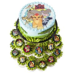 The Lion Guard Cake and Cupcake Stand