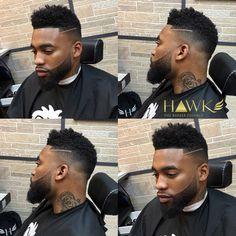 taper fade haircut with beard