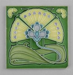 Art Nouveau Tile by Cleveland Tile Co. c1905