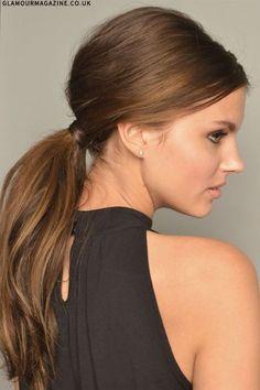 sleek and low ponytail