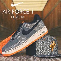 Available 11.20.13. Nike: Air Force 1 - Dark Grey/ Black and Nike Penny safari reflective snapback #JimmyJazz #Trendingnow #Nike #AF1 #AirForce1 #safari #reflective #snapback jimmyjazz.com