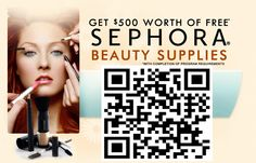 Get $500 worth of Supplies from Sephora! Scan QR code for more info!