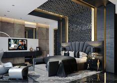 Immortalize on Behance Hotel Bedroom Design, Master Bedroom Interior, Home Room Design, Bedroom Decor, Interior Flat, Luxury Interior, Interior Design, Modern Luxury Bedroom, Luxurious Bedrooms