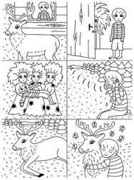 Výsledkem obraz pro pohádka o budulínkovi Sequence Of Events, Paper Birds, English Language Learning, Winter Art, Preschool Crafts, Literacy, Coloring Pages, Fairy Tales, Kindergarten