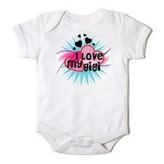 personalized grandma gigi for baby | Love My MiMi Nana Grandma GiGi Baby Girl Onesie | CasualTeeCo ...