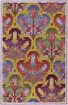 berlin woolwork chart Mini Cross Stitch, Cross Stitch Needles, Cross Stitch Flowers, Cross Stitch Charts, Cross Stitch Embroidery, Cross Stitch Patterns, Broderie Bargello, Bargello Needlepoint, Needlepoint Stitches
