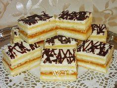 Hozzávalók: 55 dkg liszt 10 dkg cukor 20 dkg vaj vagy 16 dkg zsír 1 cs sütőpor 3 to. Hungarian Desserts, Hungarian Recipes, Cold Desserts, Chocolate Desserts, Salty Snacks, Sweets Cake, Sweet And Salty, Winter Food, Cakes And More