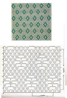 Crochet Stitches Chart, Crochet Motif Patterns, Crochet Diagram, Thread Crochet, Stitch Patterns, Knitting Patterns, Learn To Crochet, Easy Crochet, Crochet Lace
