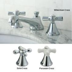 Chrome Widespread Bathroom Faucet with Cross Handles - Overstock™ Shopping - Great Deals on Bathroom Faucets