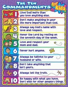 10 Commandments-kid language