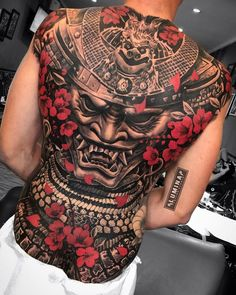 Torso Tattoos, Dope Tattoos, Body Art Tattoos, Sleeve Tattoos, Full Back Tattoos, Back Tattoos For Guys, Back Piece Tattoo Men, Japanese Back Tattoo, Japanese Tattoo Designs