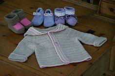 crochet - gilet à capuche pour bébé