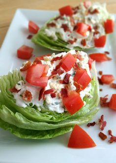 Wedge Salad with Tarragon Blue Cheese Dressing