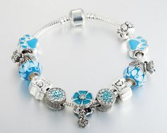blue color clover love charm bracelet,$18.9 available in store now
