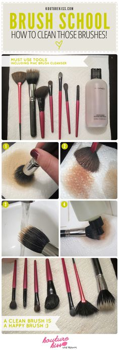 Brush School: Clean Those Brushes!