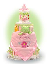 Froggie Diaper Cake for Girl