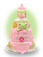 Froggie Diaper Cake for Girl