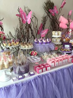 Check out this pretty butterfly birthday party! See more party ideas at CatchMyParty.com!
