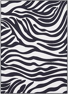 Bathroom Rugs Ideas | Ottomanson Glamour Collection Animal Print Zebra Design Kids Area NonSlip Kitchen and Bathroom Mat Rug 33 x 50 BlackWhite *** Want additional info? Click on the image. Note:It is Affiliate Link to Amazon.