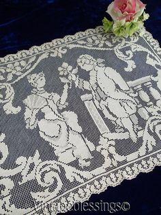 in Antiques, Linens & Textiles (Pre-1930), Lace, Crochet & Doilies  Vintageblessings