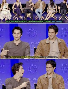 Teen Wolf - Paleyfest 2015 - Dylan O´Brien and Tyler Posey. - Teen Wolf – Paleyfest 2015 – Dylan O´Brien and Tyler Posey. Well everyone does know that Dylan - Teen Wolf Memes, Teen Wolf Funny, Teen Wolf Boys, Teen Wolf Dylan, Teen Wolf Stiles, Teen Wolf Cast, Teen Wolf Quotes, Sterek, Stydia