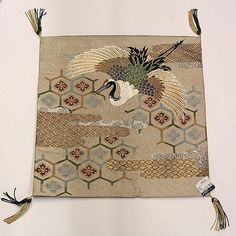 Japanese silk fukusa (gift wrapping textile), 19th/20th century, originally from Hayashi Kimono Co. in Ginza, Tokyo, Japan