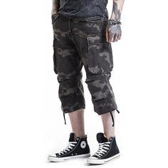 """#Pantaloncini modello 3/4 """"3/4 Vintage Shorts"""" della collezione Black Premium by EMP in stile Vintage."""