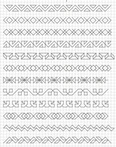 45 Super Cool Doodle Ideas Get your doodle inspiration idea here with 45 cool and easy doodle ideas for sketchbooks, bullet journals, and definitely when you're taking notes. Blackwork Patterns, Doodle Patterns, Zentangle Patterns, Cross Stitch Patterns, Doodle Designs, Graph Paper Drawings, Graph Paper Art, Blackwork Cross Stitch, Blackwork Embroidery