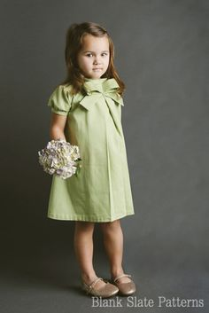 Little Bow Pleat Dress PDF Pattern Girls Toddlers 18m 2T 3T 4T 5 6 7 8