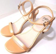 5510f0128bf8 ASOS Faith Wide Fit Dolly Heeled Sandals Light Pink US Size 8 - 8.5M NEW