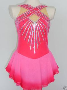 BEAUTIFUL CUSTOM MADE TO FIT TWIRLING/ICE SKATING DRESS.