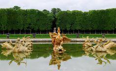 versailles gardens | Bassin du dragon, jardin de Versailles : vue d'ensemble sur ...