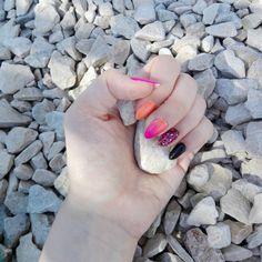 MY WORK  July 2017. #pinterestnails #nails #holidaysnails #vacationnails #neonnails #longnails