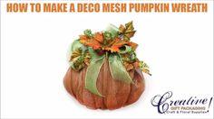 Designer David Elder creates a deco mesh pumpkin. This deco mesh pumpkin is the…